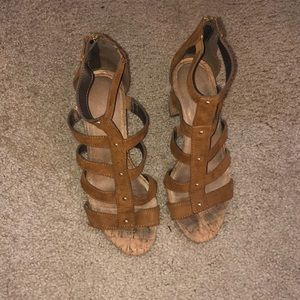 Shoes - Cork heeled sandals
